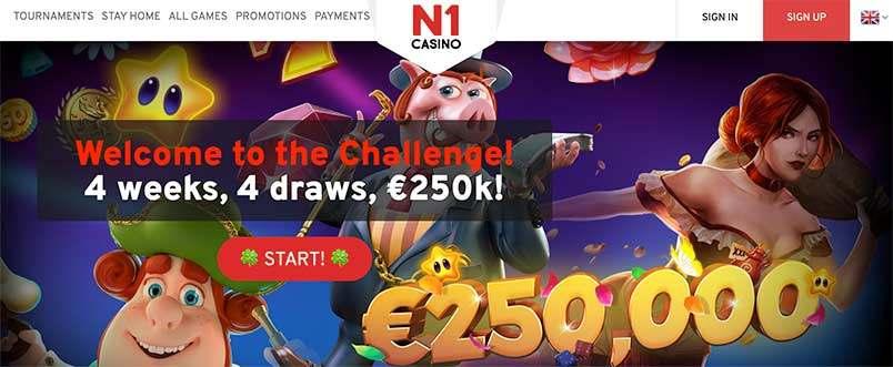 N1 Casino utan svensk licens med Trustly